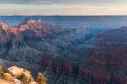 Grand Canyon, photographed from the north rim at sunset