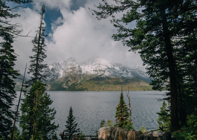 Jenny Lake with the Grand Teton range
