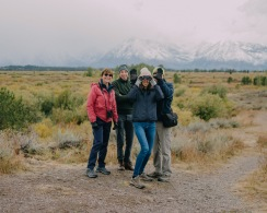 Jo and in-laws in the Grand Teton National Park