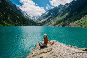 Jo by the Lac de Gaube